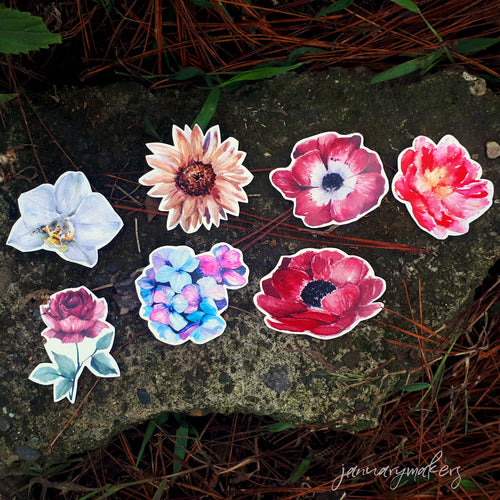 Flower Sticker Set 1