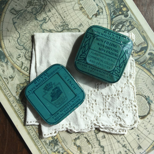 Vintage Royal US Square Typewriter Ribbon Travel Palette