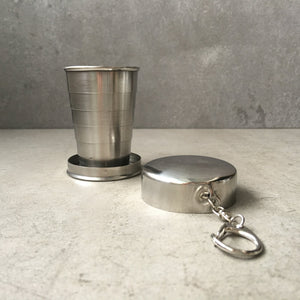 Collapsible metal travel cup