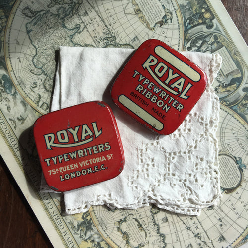 Vintage Royal UK Square Typewriter Ribbon Travel Palette