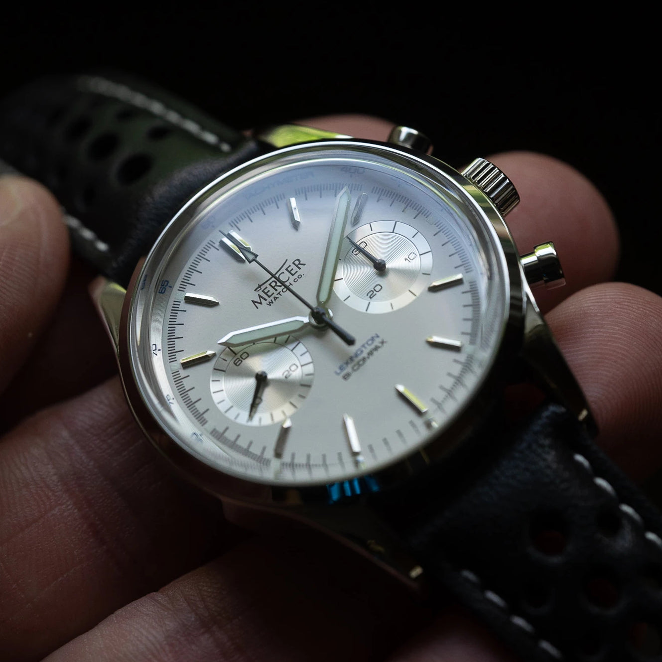 Lexington chronograph - white/silver