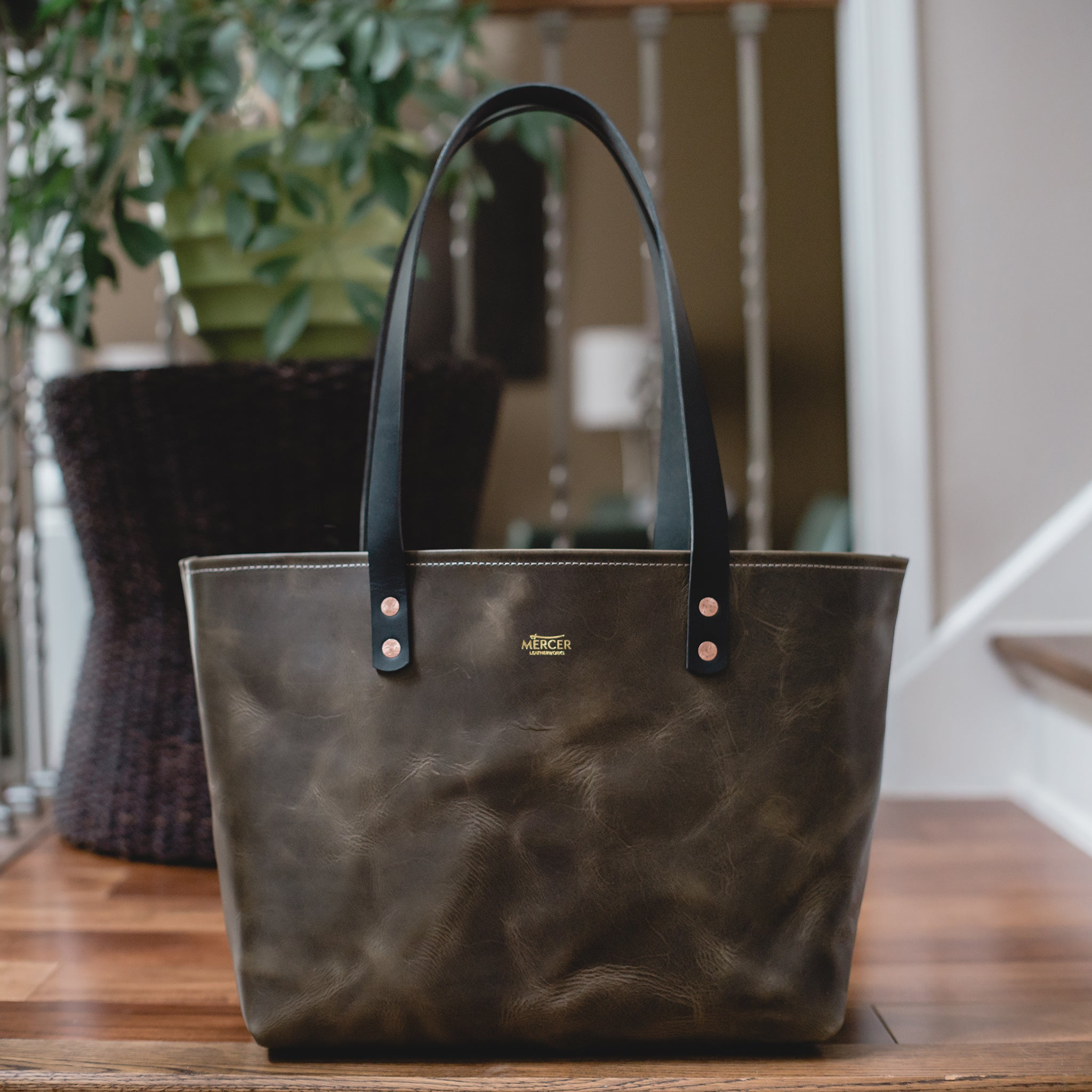 Dawson leather tote