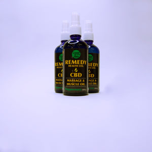 Massage & Muscle Oil - Peppermint 500mg