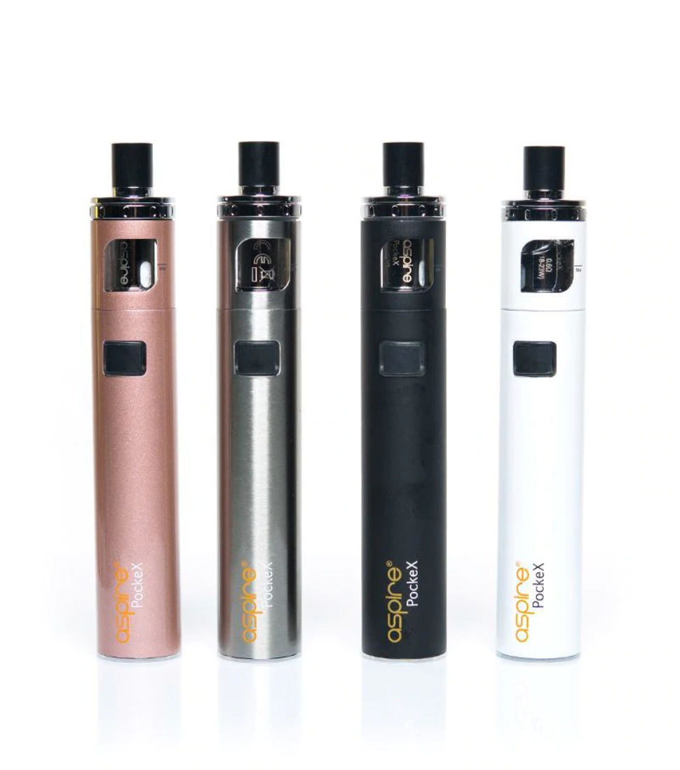 Four Vapes for CBD Juice, with a white background.