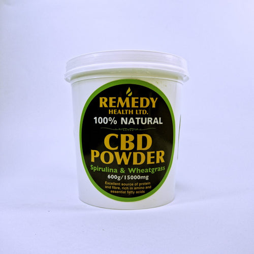CBD Powder - Spirulina and Wheatgrass