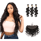 8A Grade Human Hair Body Wave - 3 Bundles + Body Wave Frontal