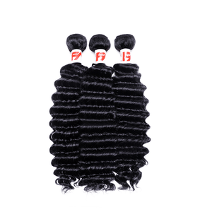 8A Grade Human Hair Deep Wave 3 bundles