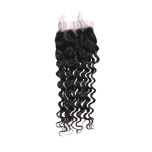 Pre-plucked Lace Closure 4'' x 4'' - Deep Wave