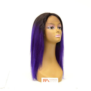 Fancy Lace Front Wig - T1B/PURPLE