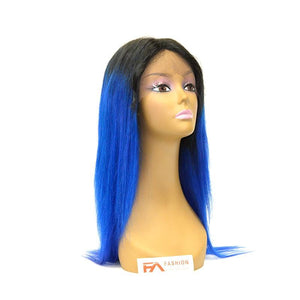 Fancy Lace Front Wig - T1B/BLUE