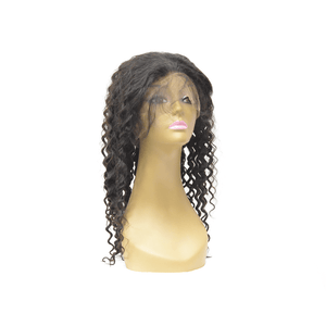 Natural Color Lace Frontal Wig - Deep Wave