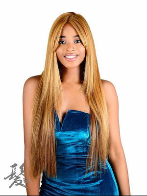 MELISSA SYNTHETIC, LACE FRONT, LONG HAIR WITH BANG. 24""