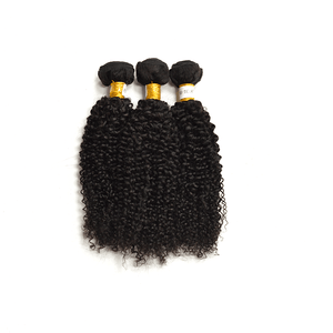7A Human Hair Kinky Curly- 3 Bundles