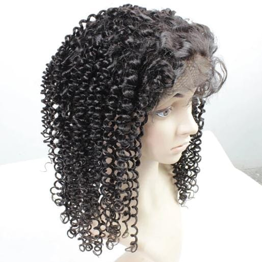 Full Lace Human Wig tight curly - Pre-plucked - Fa fashion