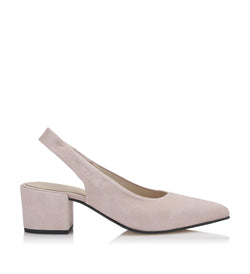 Shoe Biz Dalusa Goat Suede Pump Light Pink