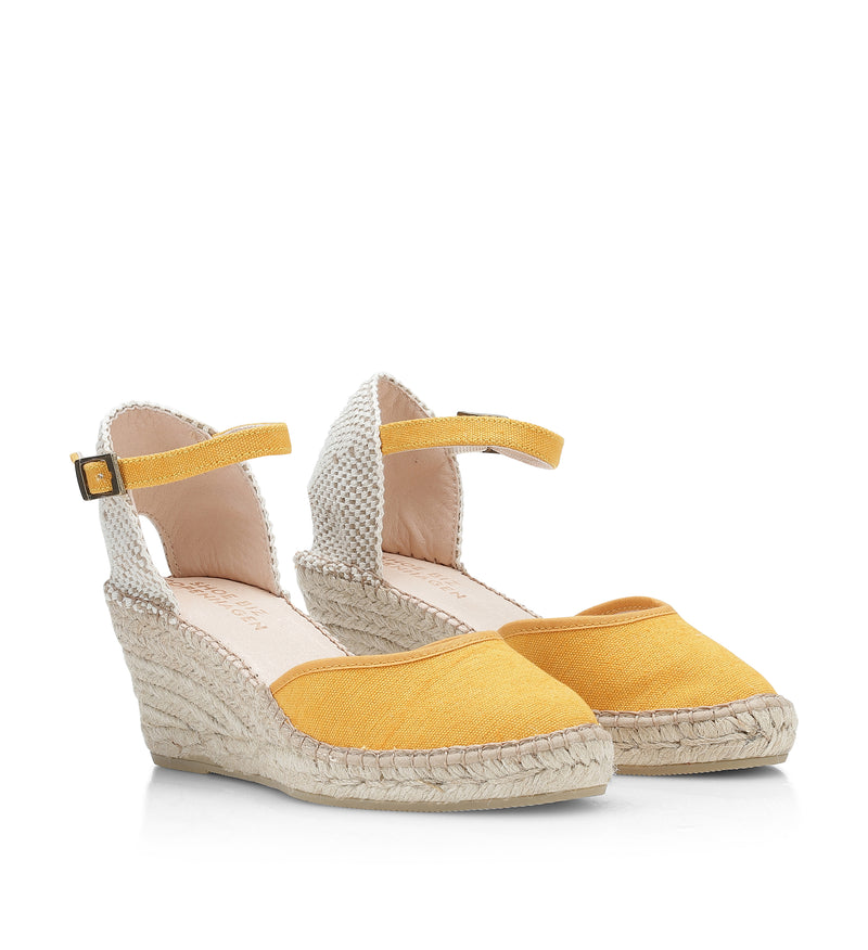 Shoe Biz Frey 5 Rows Espadrilla Yellow