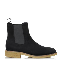 Shoe Biz Kassidy Goat Suede Short Boot Black