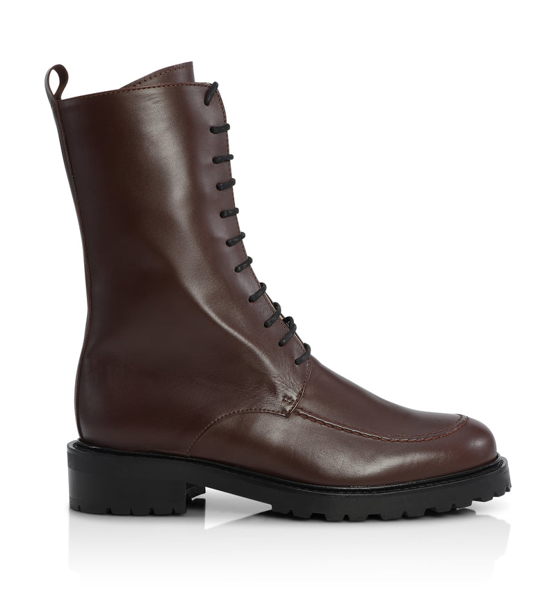 Gardenia Copenhagen Opique Short Boot Ciocollato Brown