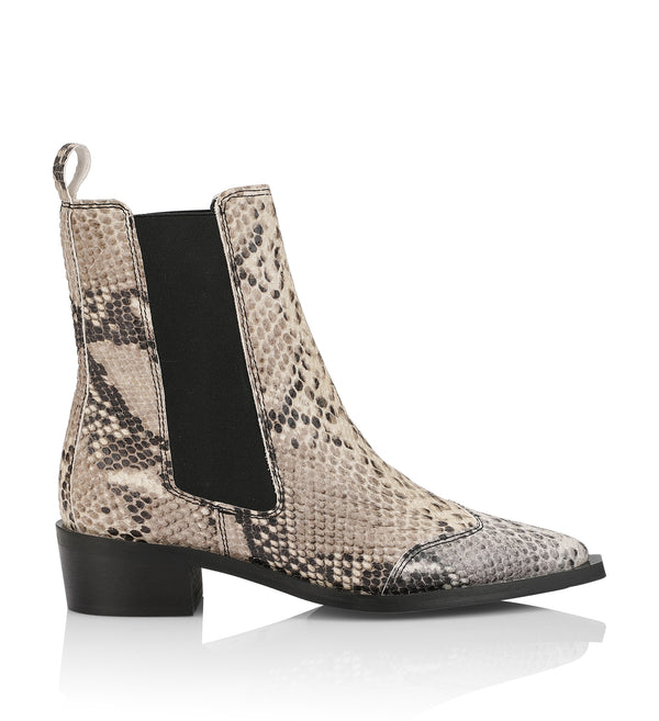Shoe Biz Pesto Short Boot Snake Nature