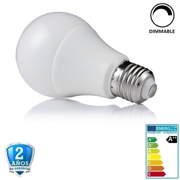 10W A60 800lm Apertura 270º- Regulable (Dimmable)