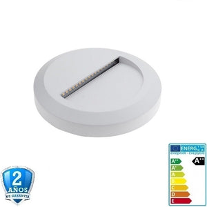 2W 120lm Blanco Redondo de Superficie 220-240V- IP65