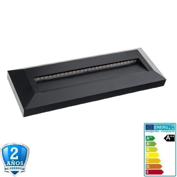 3W 330lm Negro Rectangular de Superficie 220-240V-IP65