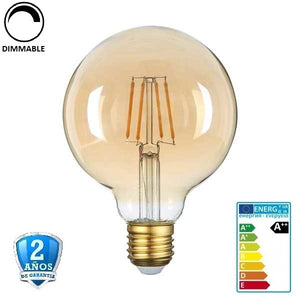"4W G95 400lm 2500K 300º  Cristal ""Oro""  Regulable (Dimmable) - Iluminacion Led  Mall"