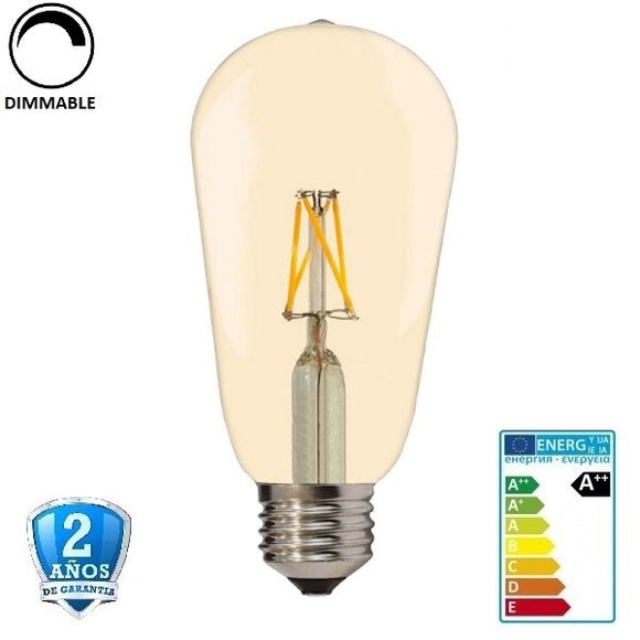 8W ST64 700lm Apertura 300º Dimmable (Regulable)