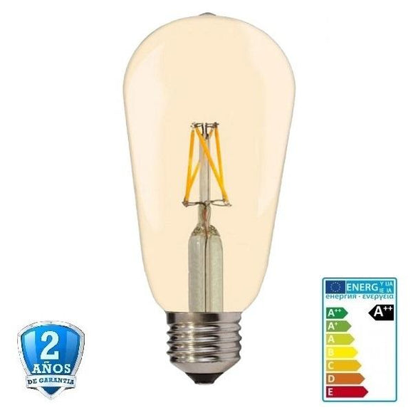4W G64 400lm Apertura 300º Golden glass