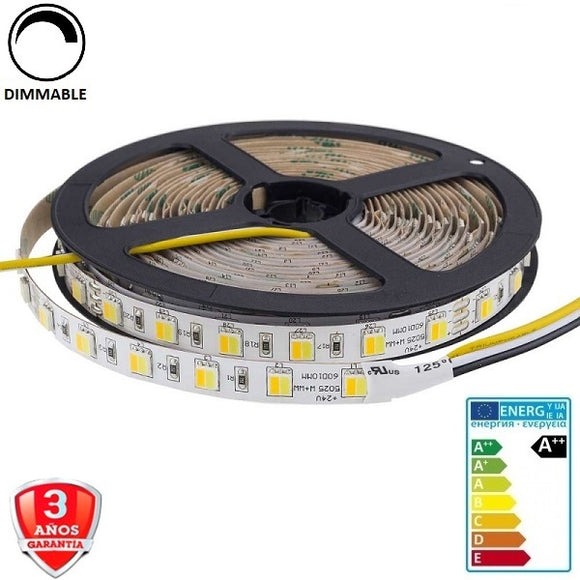 50x25-24V-60smd/m-16W-10mm-IP33-5m. - Iluminacion Led  Mall