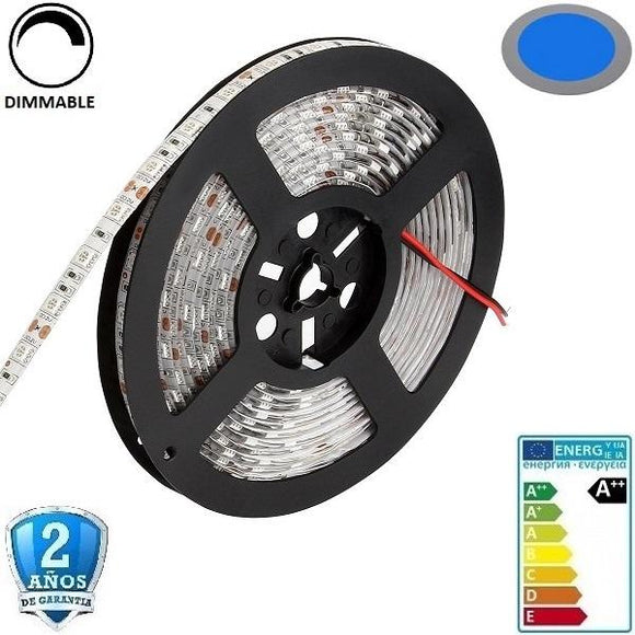 50x50-60smd/m-14,4W-IP65-5m. Azul - Iluminacion Led  Mall