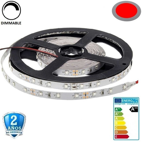 50x50-60smd/m-14,4W-IP33-Rojo-5m. - Iluminacion Led  Mall