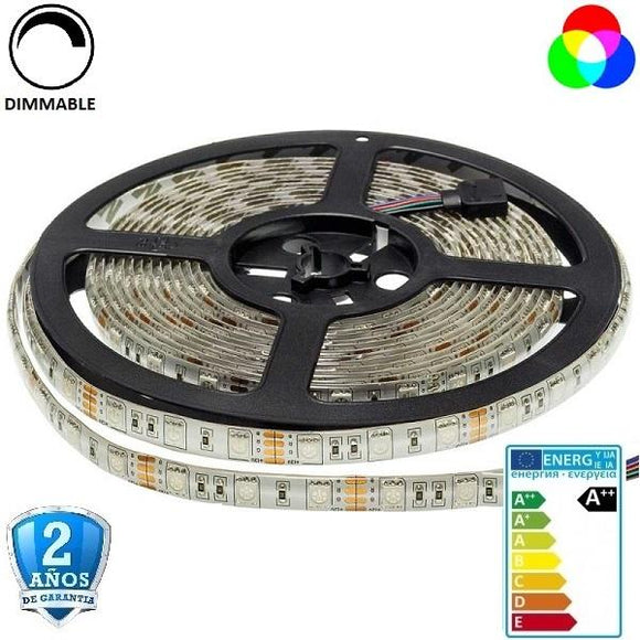 50x50-60smd/m-14,4W-RGB-IP65-5m. - Iluminacion Led  Mall