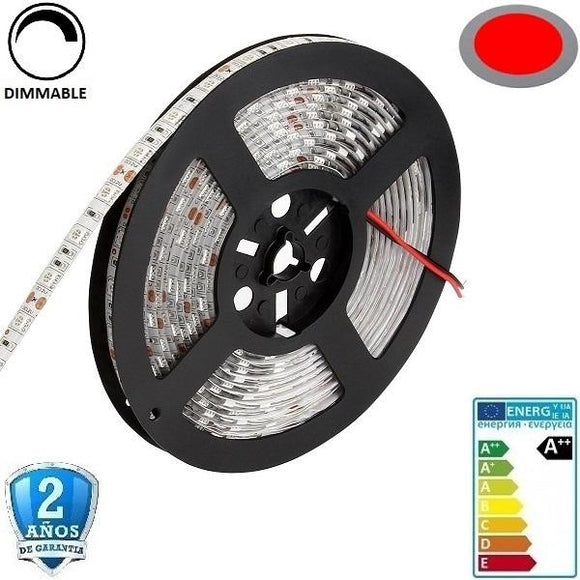 50x50-60smd/m-14,4W-IP65-5m. Rojo - Iluminacion Led  Mall