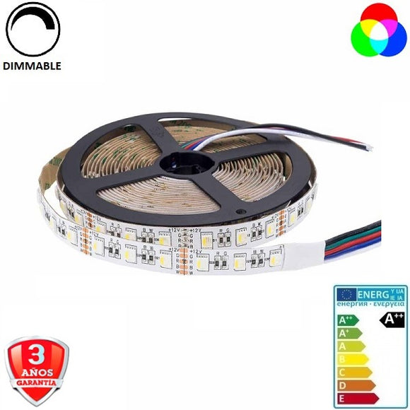 50x54-60smd/m-16W-RGB+Blanco-12mm-IP65-5m. - Iluminacion Led  Mall