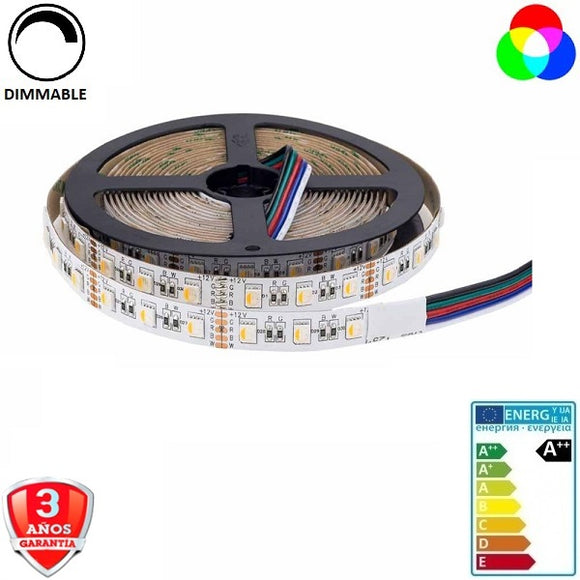 50x54-60smd/m-16W-RGB+Cálido-12mm-IP65-5m. - Iluminacion Led  Mall