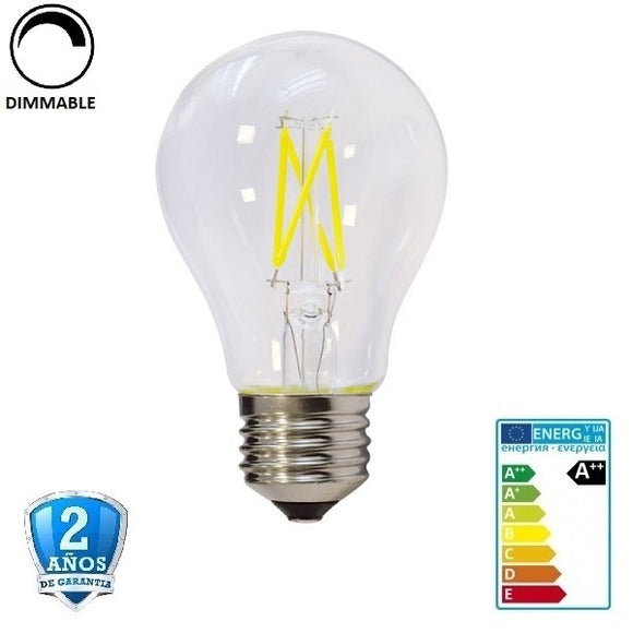 6W A60 600lm Apertura 300º- Regulable (Dimmable)
