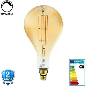 "8W PS160 700lm 300º 1800K Cristal ""Oro"" Regulable (Dimmable)"