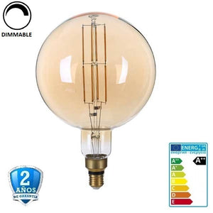 "8W G200 700lm 300º 1800K  Cristal ""Oro""  Regulable (Dimmable)"