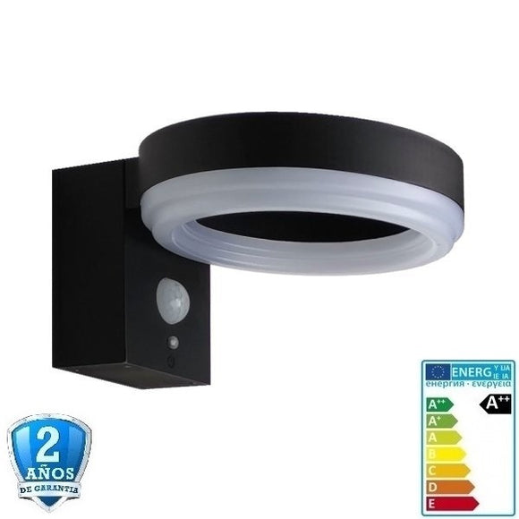 Lampara LED Solar de Pared-6W-600lm-110º-3,7V, sensor-IP44