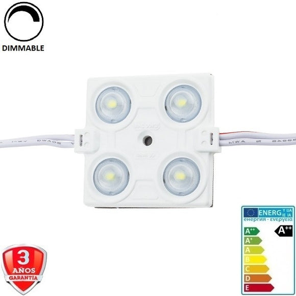 Modulo Led 12V-4smd-2835-2,4W-160º-IP65 - Iluminacion Led  Mall