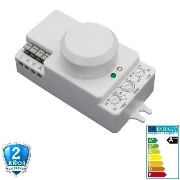 LED PIR Sensor (Detector) de radar inalámbrico, 5.8 Ghz 180°/300° IP20 - Iluminacion Led  Mall