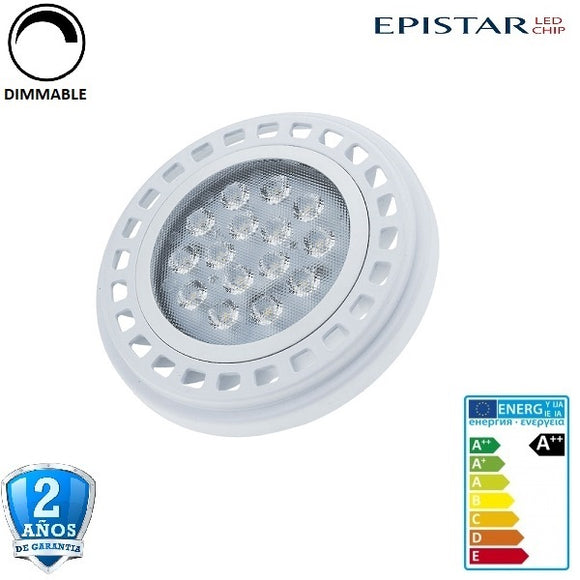 AR111-GU10 15W 1200lm Apertura 30º Dimmable (Regulable)