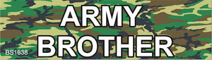Magnetic Car Sign-Army Brother