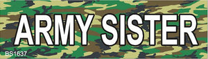 Magnetic Car Sign-Army Sister