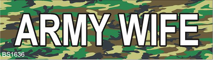 Magnetic Car Sign-Army Wife