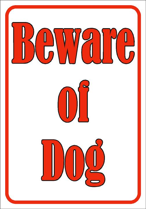 Wall Sign-Beware of dog
