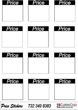 Yard Sale Price Stickers-Blank