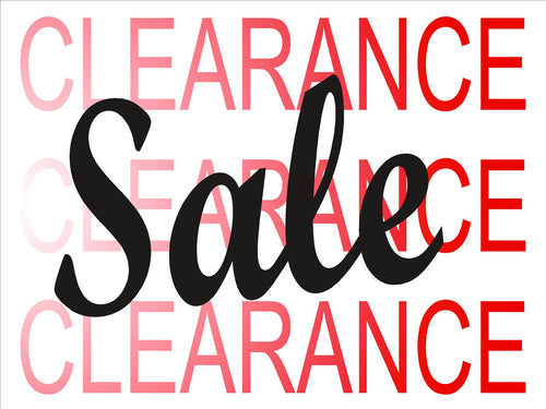 Window Sign-Clearance sale