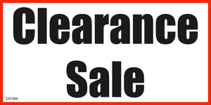 Banner-Clearance Sale